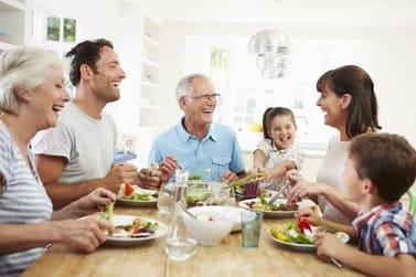 Famila sana, saludable y feliz