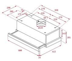 Dimensiones Campana extractora Teka 40474250 TL 6310